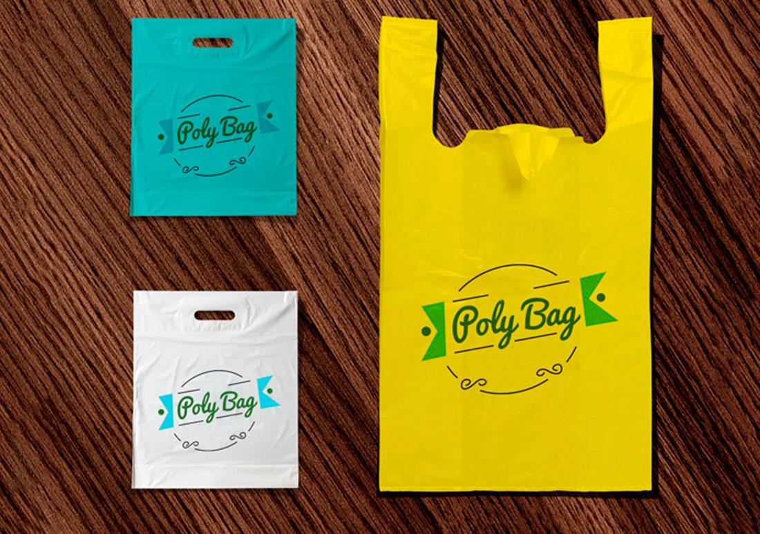 Bolsas de plástico promocionales para comercios