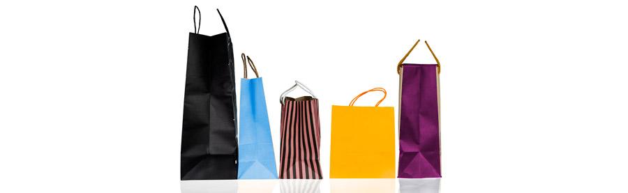 Catálogo de bolsas de papel para comercios y tiendas