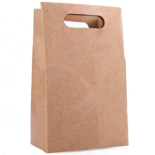 Bolsas de papel marrón troqueladas para comercios